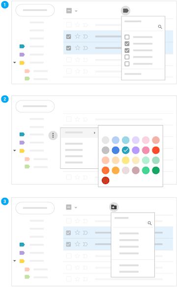 Appliquer des libellés et des codes couleur aux e-mails, et déplacer les e-mails vers des libellés