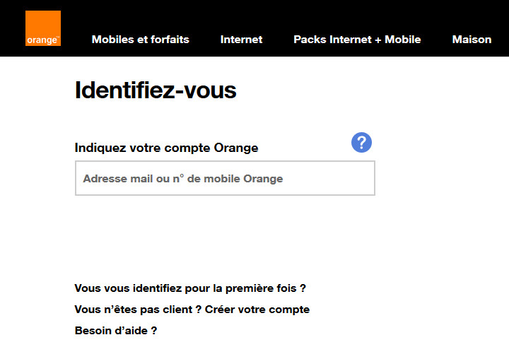 Identifiez-vous Orange