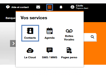 "Menu ""Vos Services"""
