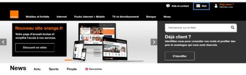 Page d'accueil Orange.fr